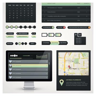 مجموعه عناصر طراحی گرافیک موبایل