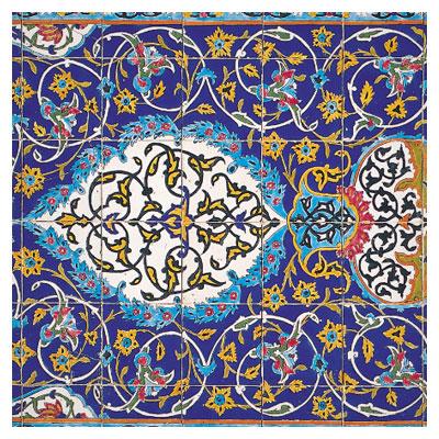 دانلود عکس کیفیت بالای کاشی فیروزه ای مسجد