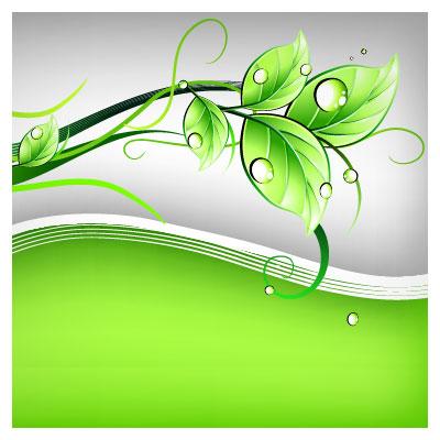 دانلود فایل وکتور بنر برگهای سبز بصورت لایه باز با فرمت های ai و pdf