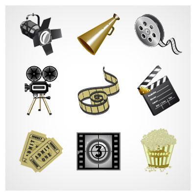 مجموعه آیکونهای وکتوری سینما