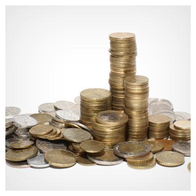 عکس مجموعه سکه های طلایی فلزی با کیفیت بالا