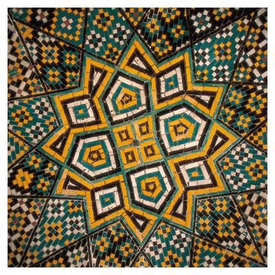 کاشی های سقف مسجد با کیفیت بالا