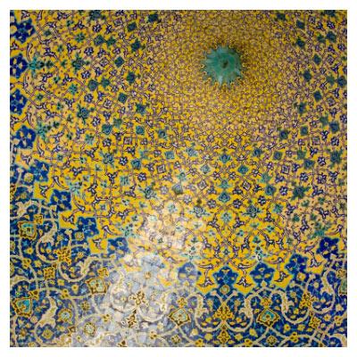 عکس با کیفیت کاشیکاری سقف و معماری اسلامی