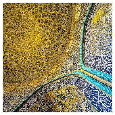 نقشهای داخلی مسجد شیخ لطف الله اصفهان