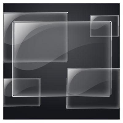 دانلود فایل لایه باز وکتور با طرح بنر شیشه ای و بکگراند سیاه