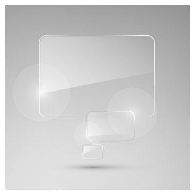 دانلود فایل وکتوری حباب های شیشه ای مستطیلی شکل