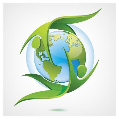 دانلود فایل وکتور رایگان با مفهوم محافظت از کره ی زمین با فرمت ai