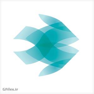 دانلود فایل لایه باز لوگو و آرم ماهی، به صورت فلت و به رنگ آبی