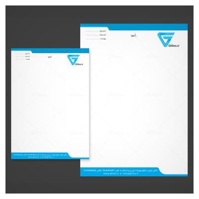 فایل PSD سربرگ A4 و A5 ، لایه باز با استاندارد رنگی CMYK