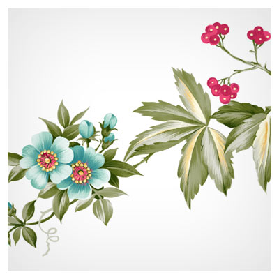 فایل ترانسپرنت و دوربری شده شاخه درخت با شکوفه های بهاری
