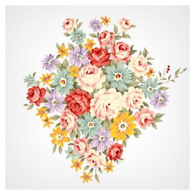 دسته گلهای رز با فرمت psd