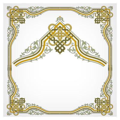 دانلود فایل لایه باز کادر و حاشیه (گوشه) با طرح تذهیب و اسلیمی