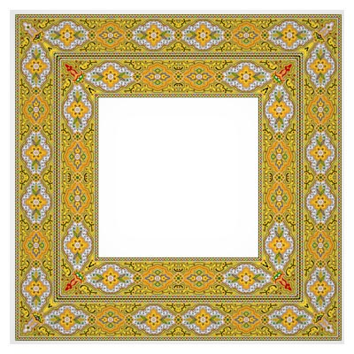 دانلود فریم (Frame) و قاب لایه باز psd با طرح و المان های تذهیبی