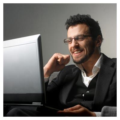 کار با لپ تاپ