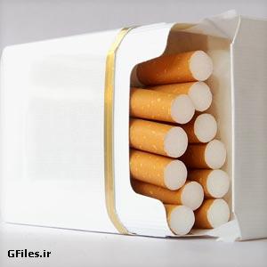 تصویر با کیفیت (jpg) از پاکت سیگار افتاده روی زمین