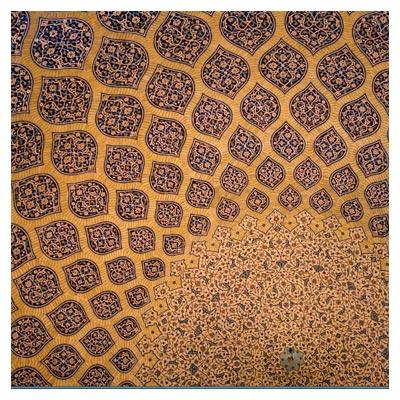 سقف داخلی مسجد شیخ لطف اله اصفهان