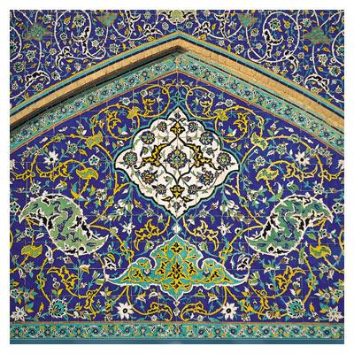 دانلود عکس با کیفیت (JPG) کاشیکاری محرابی مساجد