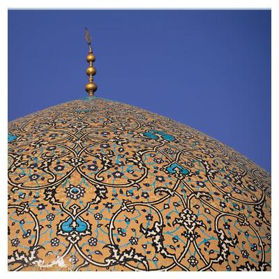 تصویر با کیفیت از گنبد مسجد امام اصفهان