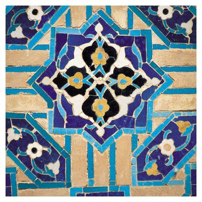 دانلود تصویر با کیفیت قسمتی از کاشیکاری آجری (هنر ایرانی اسلامی)