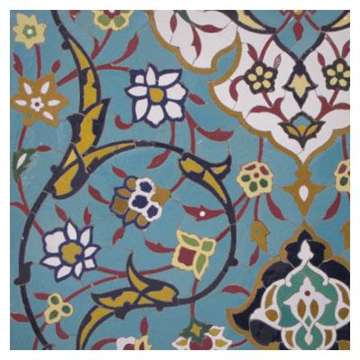 کاشی های گل و بوته مساجد (هنر ایرانی)