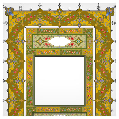 دانلود فایل وکتوری و لایه باز قاب و حاشیه تذهیبی قرآنی با فرمت eps