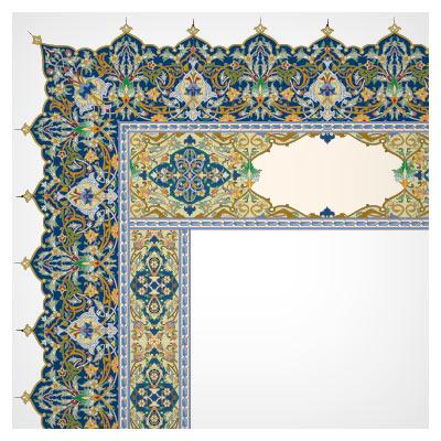 دانلود فریم و قاب تذهیب دار قرآنی مناسب برای طراحی کتاب های نفیس (قرآن و ...)