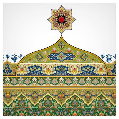 دانلود قاب و پس زمینه تذهیبی قرآنی مناسب برای طراحی کتب نفیس (eps)