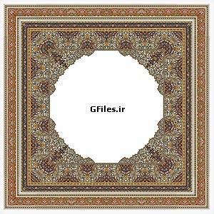 فریم و قاب تذهیب شکل بصورت مربعی ، ارائه شده با پسوند eps