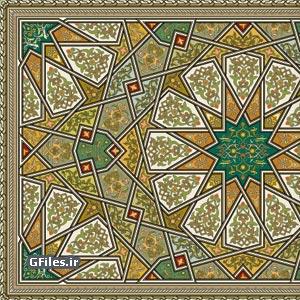 پس زمینه هنر اسلامی - ایرانی با فرمت eps