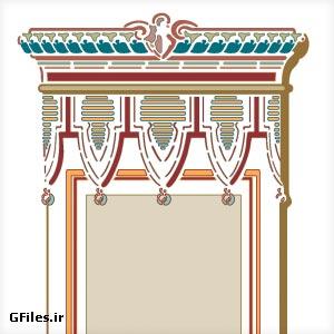 دانلود نماد تذهیبی ستون های کاخ