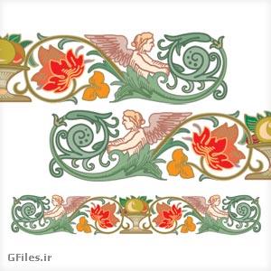 وکتور گل و بوته ویکتوریا (تذهیب)