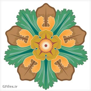 وکتور گل 5 پر (سمبلهای تزئینی گل)