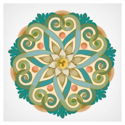 فایل برداری گل تزئینی از نمادهای ویکتوریا (سمبل های شرقی)
