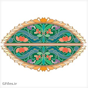 Clipart of Colorful Oval Design Ornament