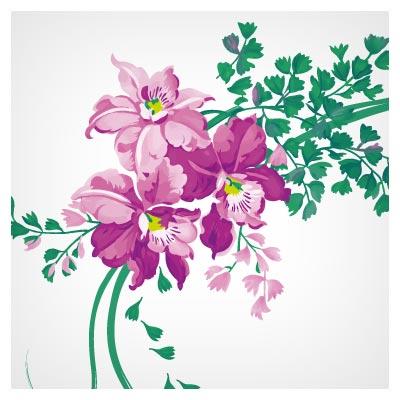 فایل برداری (vector) گلهای فانتزی زیبا