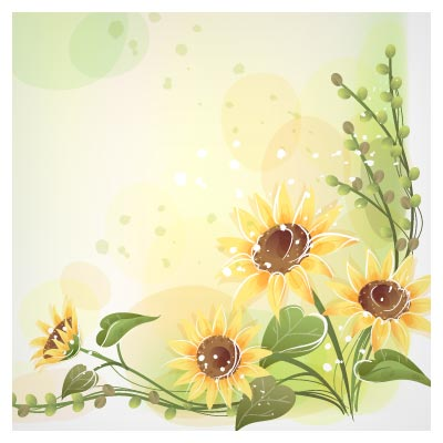 دانلود فایل وکتور (ai و pdf) قاب گل آفتاب گردان