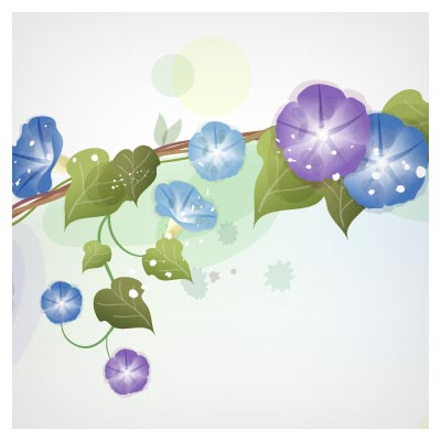 وکتور لایه باز مجموعه قاب از گلهای شیپوری
