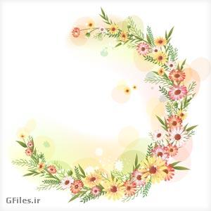 دانلود وکتور فریم و قاب گل های تزئینی بصورت لایه باز ، با دو فرمت ai و pdf
