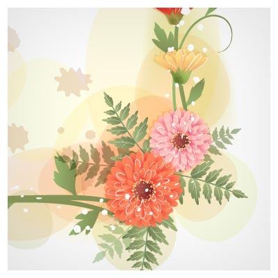 دانلودحاشیه ، قاب و پس زمینه گل های مینیاتوری وکتور
