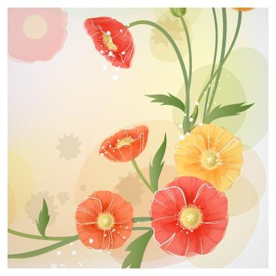 دانلود فایل وکتور قاب گل (flower frame) بصورت کاملا لایه باز