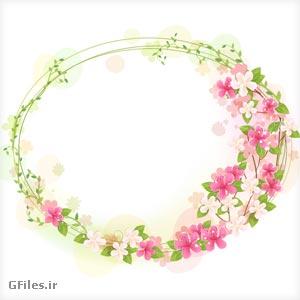 دانلود فایل برداری (وکتور) فریم و قاب گلهای فانتزی