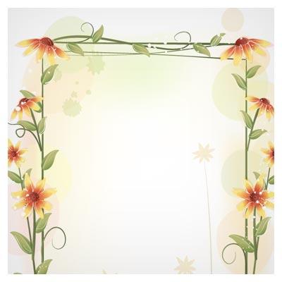 free frame flower فریمهای برداری