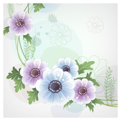 وکتور گلهای بنفش