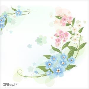 دانلود فایل وکتور گل های مینیاتوری فانتزی رنگی