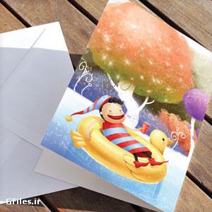 دانلود طرح psd لایه باز کارت پستال کودکانه مناسب برای کارت دعوت تولد و ...