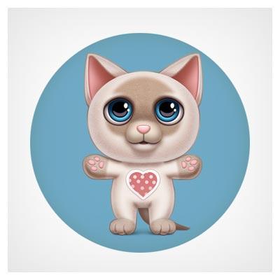 دانلود آیکون اپ موبایل گربه کوچولو