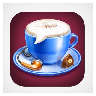 آیکون چت و قهوه
