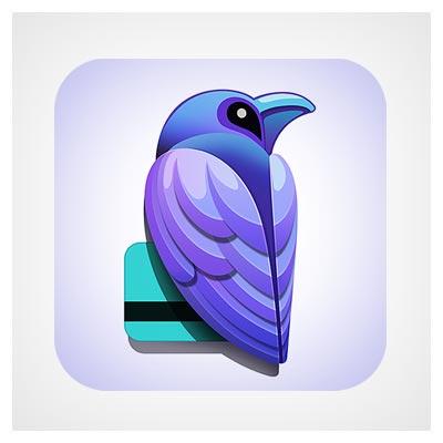 آیکون پرنده آبی