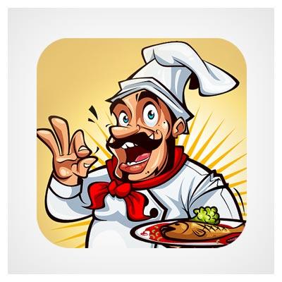 آیکون آپ موبایل سر آشپز
