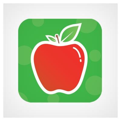 دانلود آیکون سلامتی و بهداشت (آیکون سیب قرمز) برای اپلیکیشن موبایل